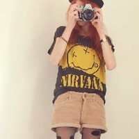 Nirvana Smiley Face T-shirt