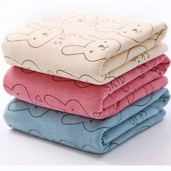 Cute Microfiber Absorbent Drying Bath Beach Towel Washcloth Swimwear Baby Towel
