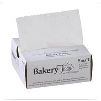 6 x 10 3/4 White Small Waxed Bakery Tissue/Case of 10000