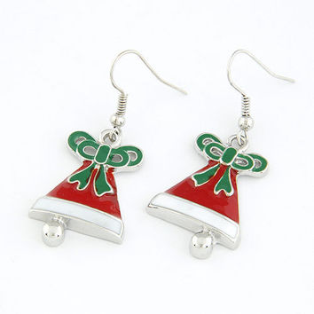 Christmas Bells earrings Drop Dangle Earring, Christmas Present, Christmas Jewelry, Gift for Family, Party Jewelry 13010229