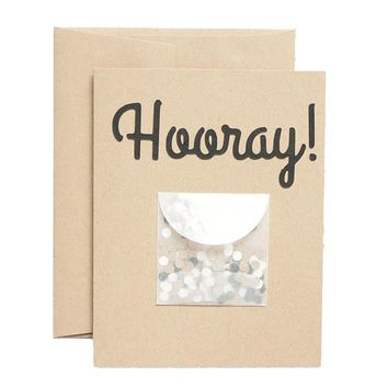 Hooray Confetti Card