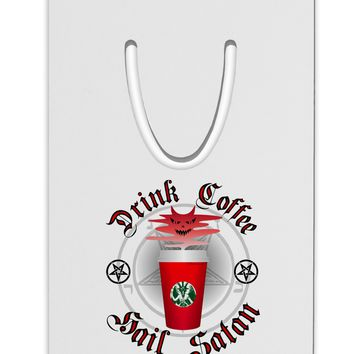 Red Cup Drink Coffee Hail Satan Aluminum Paper Clip Bookmark by TooLoud