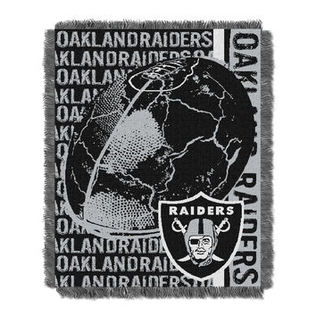Oakland Raiders NFL Triple Woven Jacquard Throw (Double Play) (48x60)