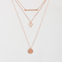 Bar Disc Tiered Short-Strand Necklace - Aeropostale