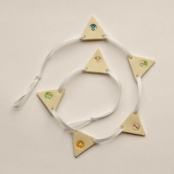 Porcelain Personalised Bunting Wedding Party Garland