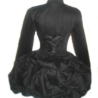 Black Steampunk Jacket Military Gothic Bustle Victorian