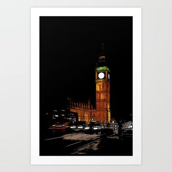 London Retro Art Print by Outside Unknown
