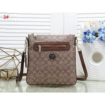 Coach Fashion New Pattern Leather Women Shopping Leisure Shoulder Bag 3#