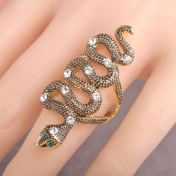 Unquie Design Snake Shaped Rings For Women