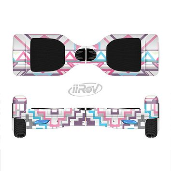 The Vector Pink & White Modern Aztec Pattern Full-Body Skin Set for the Smart Drifting SuperCharged iiRov HoverBoard