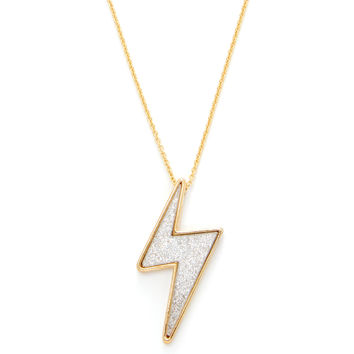 Marc by Marc Jacobs Jewelry Women's Debbie's Bolt Pendant Necklace - Silver