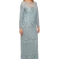 Dolores Art Deco Inspired Maxi Dress in Blue
