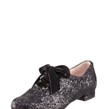 RED Valentino Lace-Up Glitter Oxford