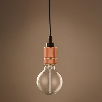 Industrial Bare Bulb Edison Single Pendant Light - Chester - Copper | GFURN