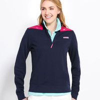 Womens Pullovers: Whale Embroidered Shep Shirt Pullover - Vineyard Vines