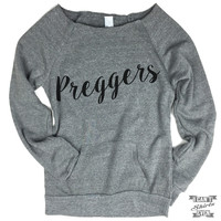 Preggers Off-The-Shoulder Sweater.