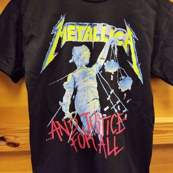 New METALLICA JUSTICE FOR ALL HAMMER OF JUSTICE LICENSED CONCERT BAND  T Shirt