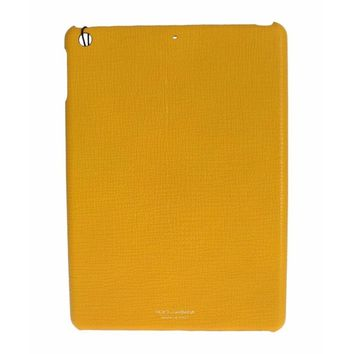 Dolce & Gabbana Yellow Leather Tablet Ipad Case Cover