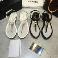 Chanel Fashion Casual Women Flip Flops Sandals Shoes