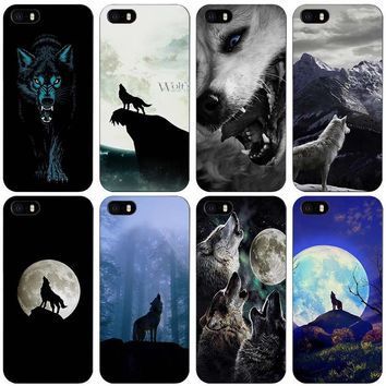 The Wolf Black Plastic Case Cover Shell for iPhone Apple 4 4s 5 5s SE 5c 6 6s 7 Plus