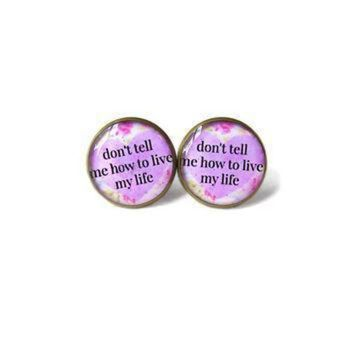 DCCKGQ8 floral conversation heart lavender pastel goth don t tell me how to live my life stud