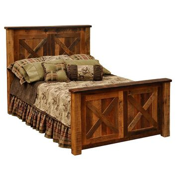 Barnwood Barndoor Bed - Queen