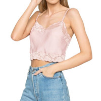 Women Lace Crochet Crop Tops Fashion Ladies Camis Patchwork Backless Hollow Out Camisole Spaghetti Strap Short Camis  New