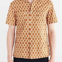 Monitaly Short-Sleeve Diamond Vacation Button-Down Shirt