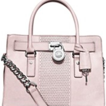 MICHAEL Michael Kors Microstud Hamilton Center Stripe East West Satchel | macys.com