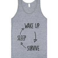Sleep Survive-Unisex Athletic Grey Tank