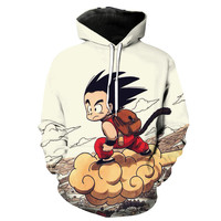 Kid Goku & Flying Nimbus Dragon Ball Z Hoodie