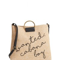 BP. Embroidered Straw Tote | Nordstrom