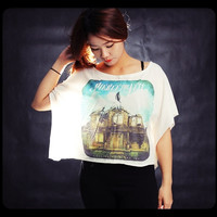 Pierce the Veil Shirt Off Shoulder Tops Women Cropped T-Shirt Free Size One Size Fits All