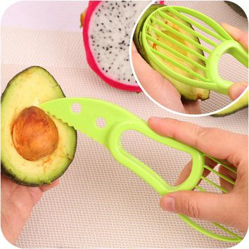 Multi Function 3 In 1 Avocado Slicer Corer Fruit Cutter Knife Strong Durable Blade Kitchen Gadgets Cooking Tools