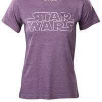 Star Wars Tissue-Weight Fitted Ladies' Tee - Heather Plum,