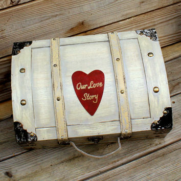 Wedding Card Box Trunk Wine Love Letter Ceremony Anniversary Rustic Shabby Chic Fairytale Vintage Wedding Custom