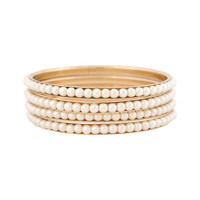 Pearlescent Trimmed Bangle Set | FOREVER21 - 1000016368