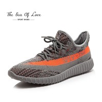 2017 newest men's V2 sport shoes Running shoes knitted breathable leisure sports shoes couple shoes yezzy boost 350 hombre