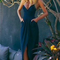 HelloMolly | Evening to Remember Maxi Dress Navy - Dresses