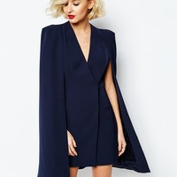 Lavish Alice Split Back Cape Dress