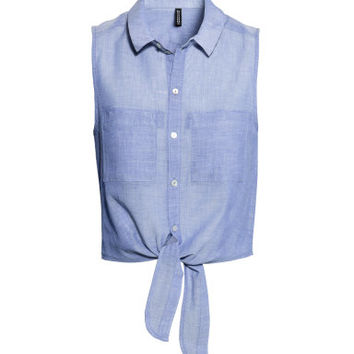 H&M Sleeveless Tie Blouse $17.99