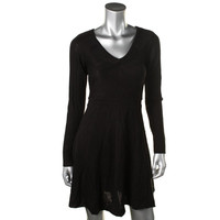 Jessica Simpson Womens Knit Ribbed Sweaterdress