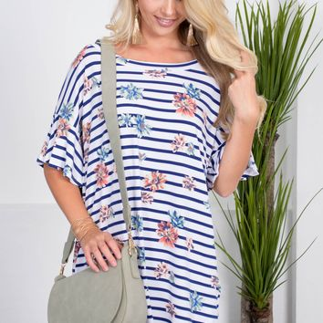 Gigi Floral Striped Pocket Dress