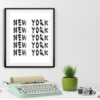 Two for the Price of One. New York City  PRINTABLE -Printable, Black and White  Wall Art, City Wall Art