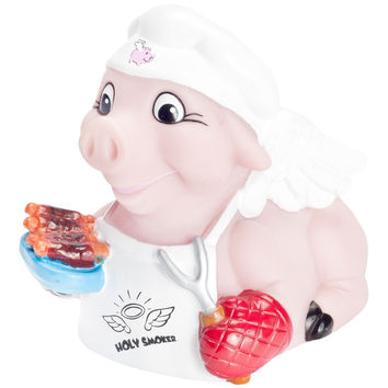 Holy Smoker BBQ Pig Rubber Toy