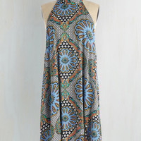Boho Mid-length Sleeveless Shift On Tapas of the World Dress