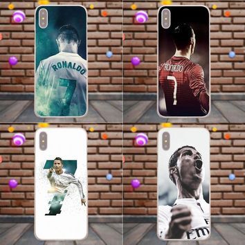 Suef Cristiano Ronaldo Cr7 Football For Samsung Galaxy A3 A5 A7 J1 J2 J3 J5 J7 2015 2016 2017 Soft Protector Cases