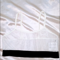 SWEET LORD O'MIGHTY! LIL MESH BRALET IN WHITE