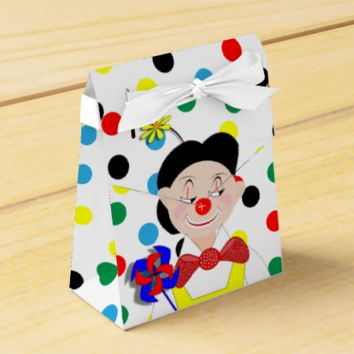 Cute Colorful Funny Cartoon Circus Clown Party Favor Boxes