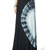 Tie Dye Ruched Maxi Skirt
